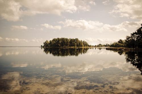Schweden - erste Eindrücke Spiegelung