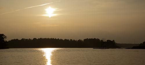 Schweden - erste Eindrücke Abendrot