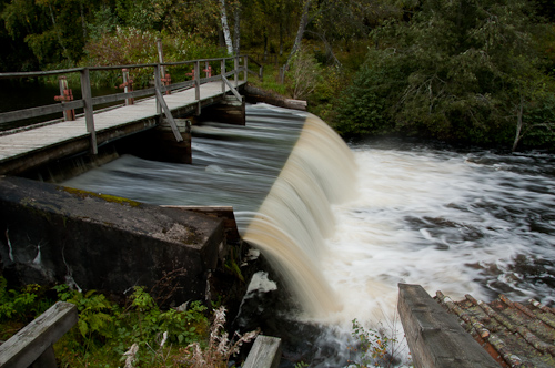 Schweden - angestautes Wasser
